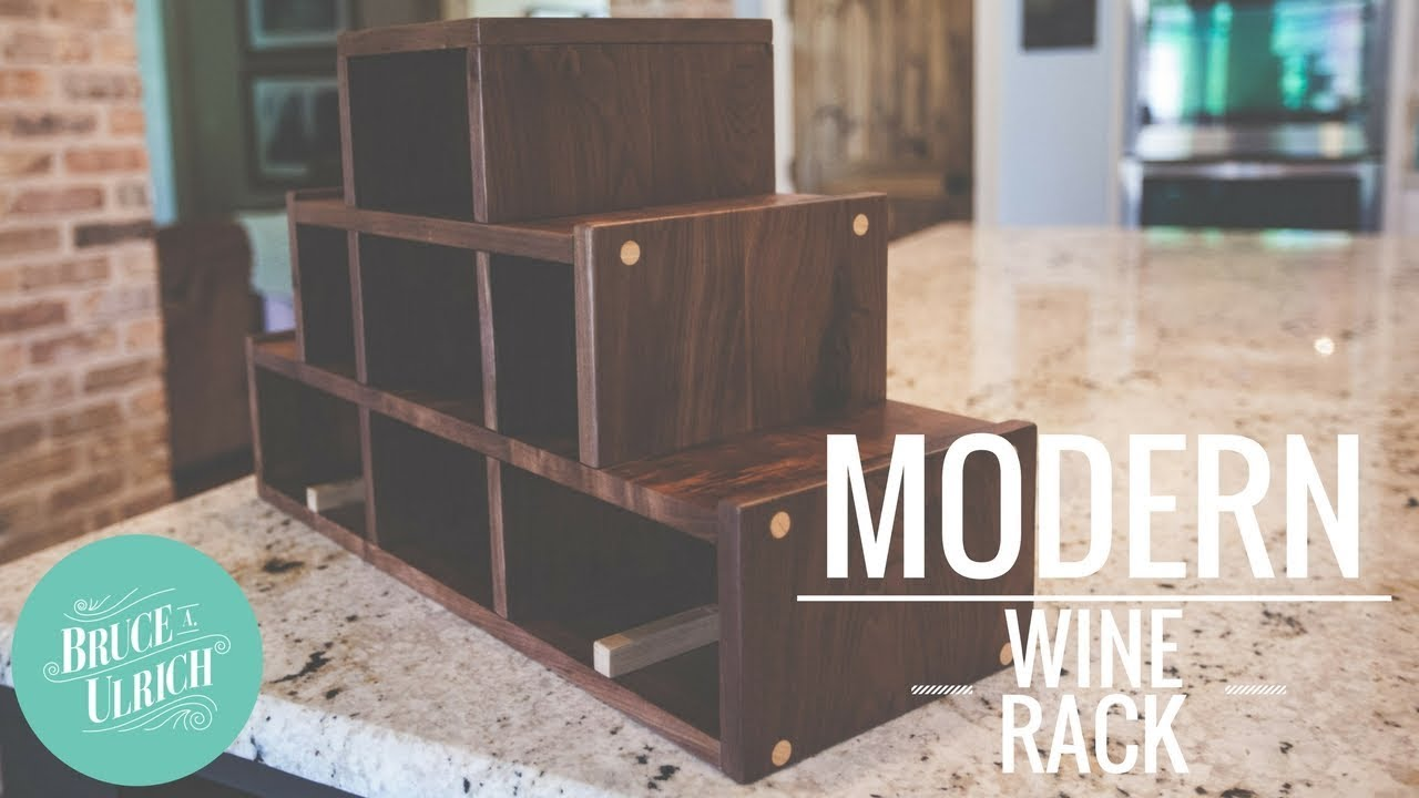Modern Wine Rack - YouTube