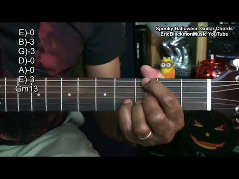 Scary Sounding Halloween Guitar Chords Tutorial Lesson EBMTL Dark Guitar