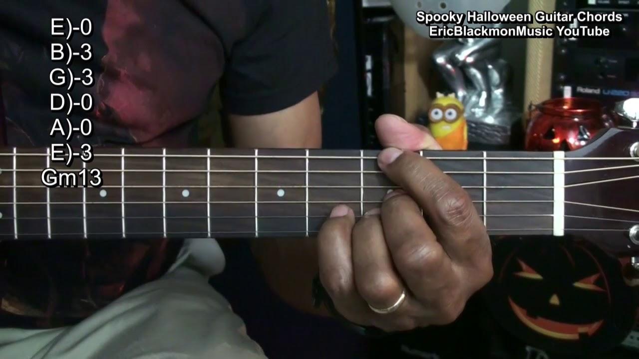 Scary Sounding Halloween Guitar Chords Tutorial Lesson Ebmtl Dark
