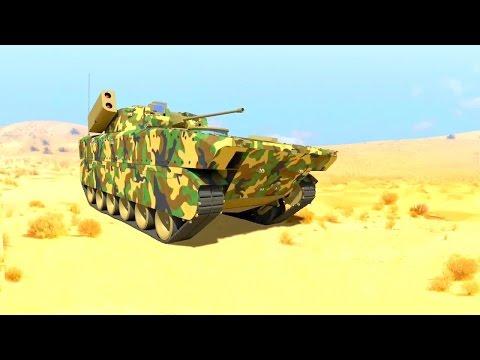 Tata Power SED - Futuristic Infantry Combat Vehicle Combat Simulation [720p]