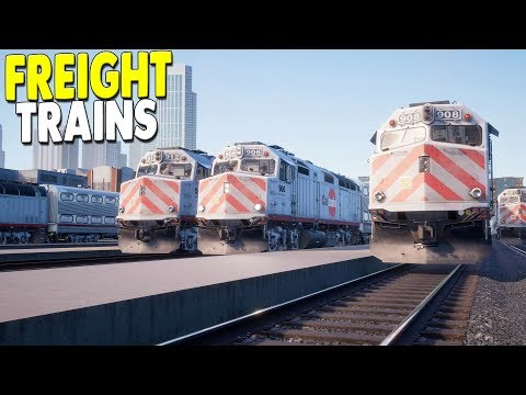 [LIVE?] NEW - American Freight & Passenger Train DLC - Train Sim World Gameplay - 동영상