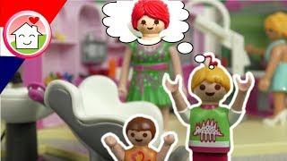 Playmobil filmpje Nederlands Familie Huizer naar de kapper
