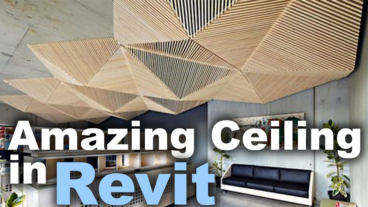 Custom Ceiling In Revit Tutorial Youtube
