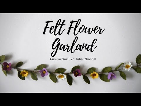 How to Make Felt Flower Garland