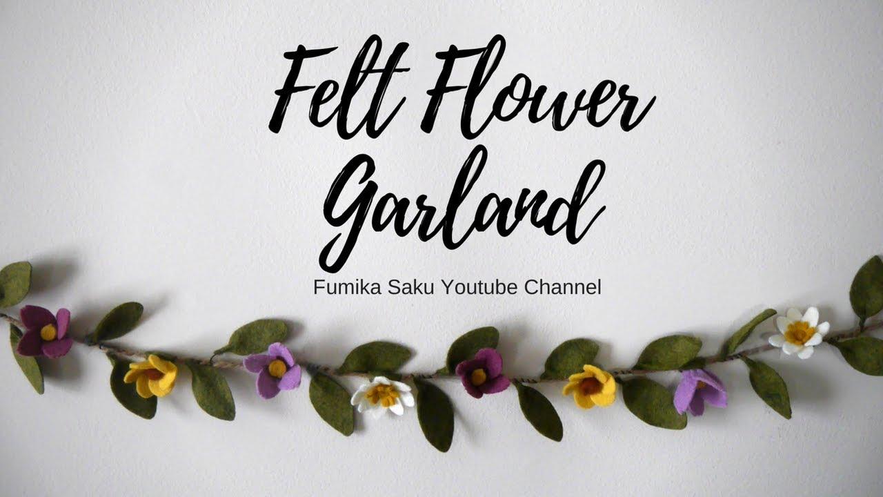 felt flower garland