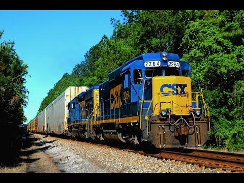 CSX GP30 Slug Leading Loads to Jacksonville
