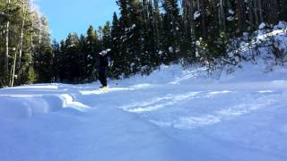Pre-Season Snowskate in Aspen, CO