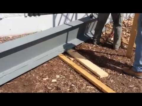 How to lift real heavy steel beams...