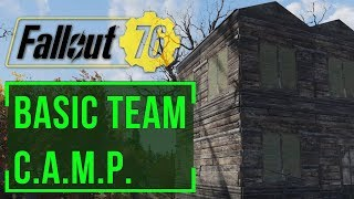 Fallout 76 - The Basic Team Base: Wood Cabin (Settlement Building)