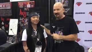 ALEXEY Interview at NAMM 18 on Drum Talk TV