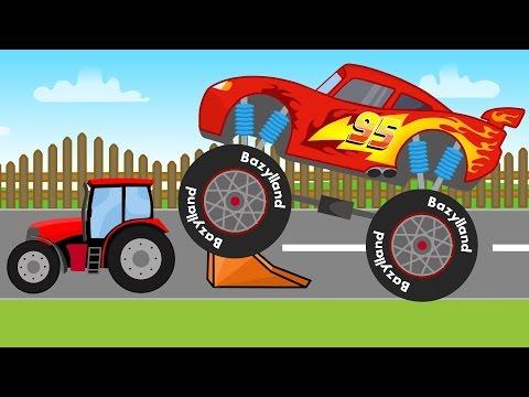 Disney Lightning McQueen Truck | Monster Truck - Disney Zygzak McQueen