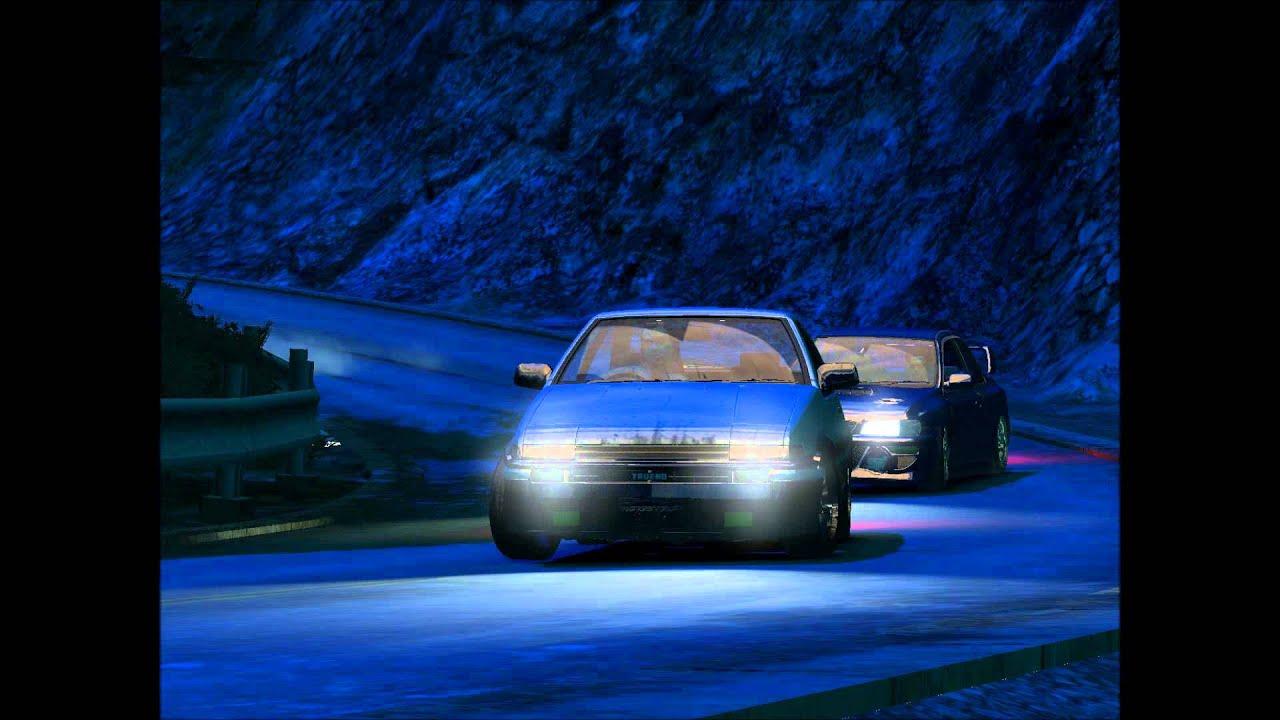 Initial D AE86 Vs Impreza GTA 4