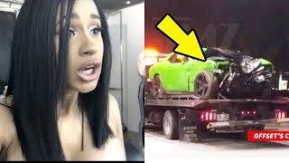 Cardi B Reacts to Offset's Car Crash and Him being Hospitalized
