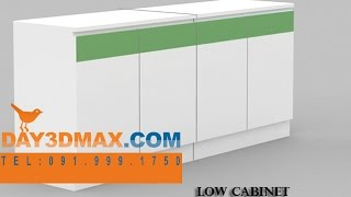 Học 3d Sketchup 36  Hướng Dẫn Vẽ Tủ Thấp Low Cabinet Learning Study 3d Draw A Low Cabinet ( Lcb)