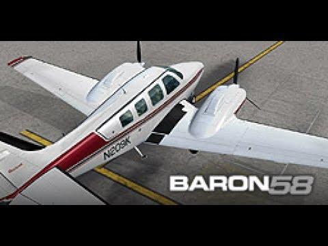 Beechcraft Baron B58 (Red Classic) by:  (Carenado).