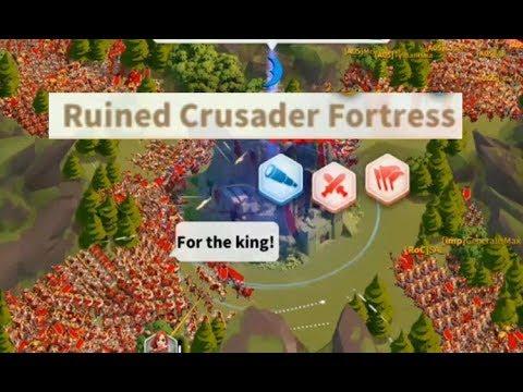 Rise Of Kingdoms Ultra Strong RUINED CRUSADER FROTRESS - KVk At Lost Kingdom