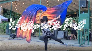 Good Good Father Church Park Outdoor Worship Dance Silk Flags Mill  Lake ft: Claire CALLED TO FLAG