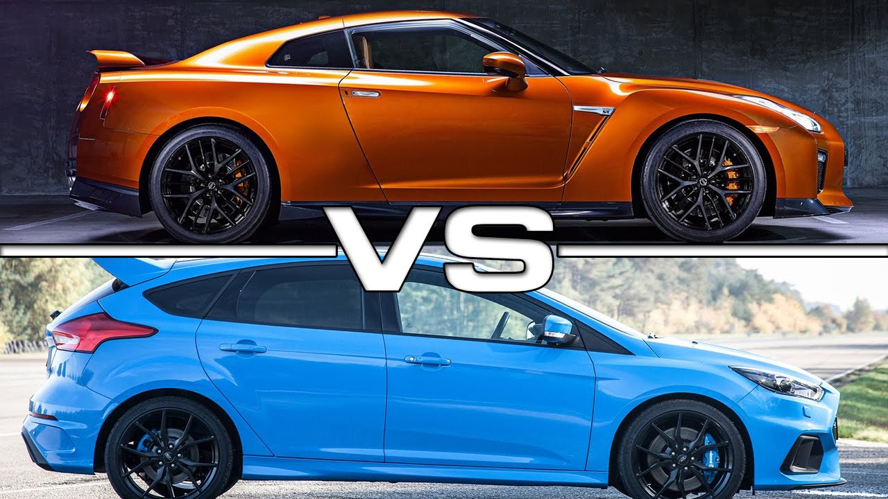 nissan gt r vs ford focus rs youtube. Black Bedroom Furniture Sets. Home Design Ideas