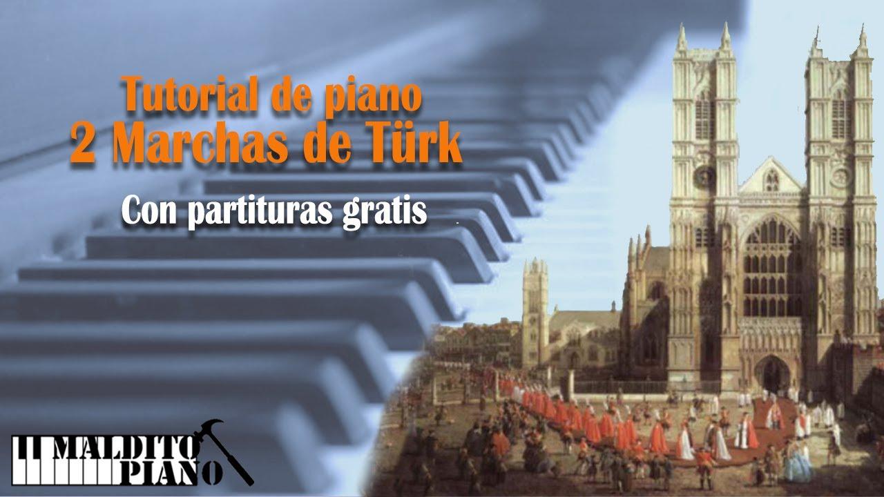Easy  piano tutorial. Aprende a tocar las dos marchas de Türk con partitura gratis.