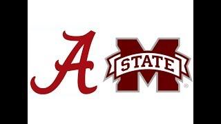 2017 #2 Alabama at #16 Mississippi State (Highlights)