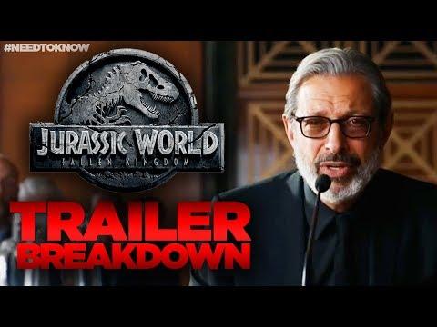 Download Youtube: Jurassic World Fallen Kingdom TRAILER Breakdown - WHAT YOU MISSED! #NeedtoKnow