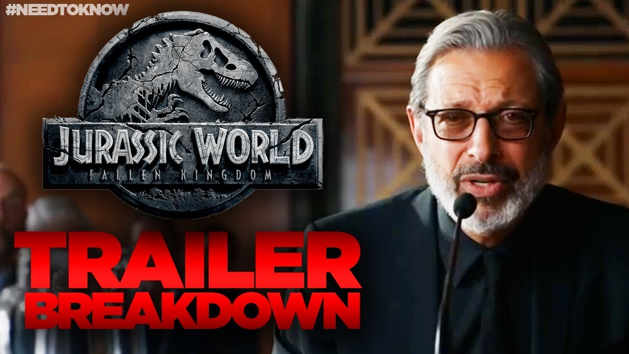 Jurassic World Fallen Kingdom TRAILER Breakdown - WHAT YOU MISSED ...