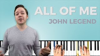 How to play 'ALL OF ME' by John Legend on the piano -- Playground Sessions