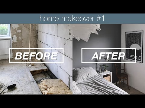 Bedroom before & after | Home makeover #1