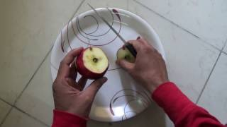 How to Cut Apple | How to Slice Fruits with Knife | Knife Skills