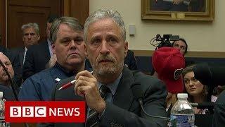 Tearful_Jon_Stewart_rebukes_Congress_over_9/11_fund_-_BBC_News