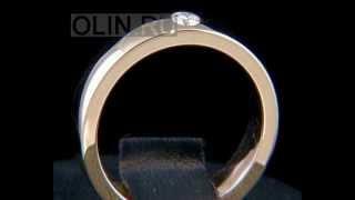 Помолвочное кольцо из золота с бриллиантом(Помолвочное кольцо изготовлено из красного золота 585 пробы и украшено одним бриллиантом. Это кольцо также..., 2012-12-28T04:48:52.000Z)