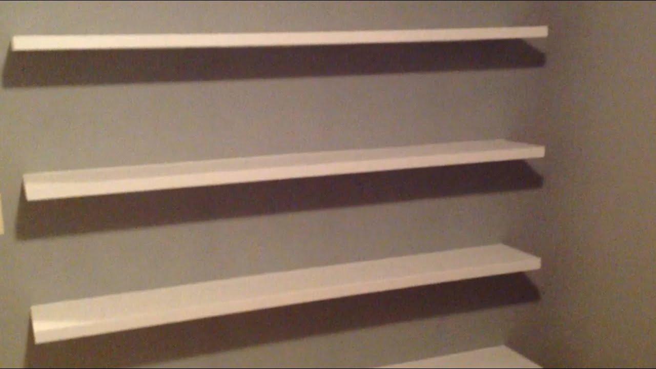 How to Build Sleek Free-Floating Wall Shelves! - YouTube