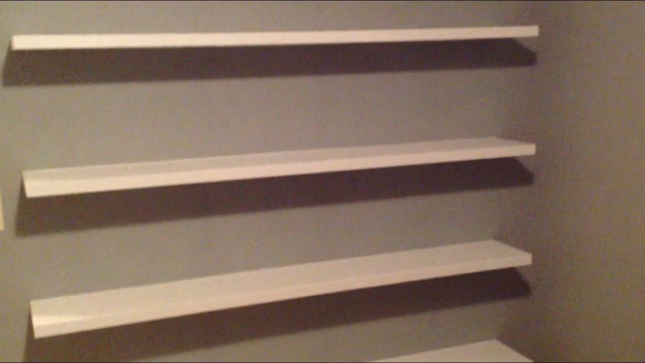 How To Build Sleek Free Floating Wall Shelves Youtube