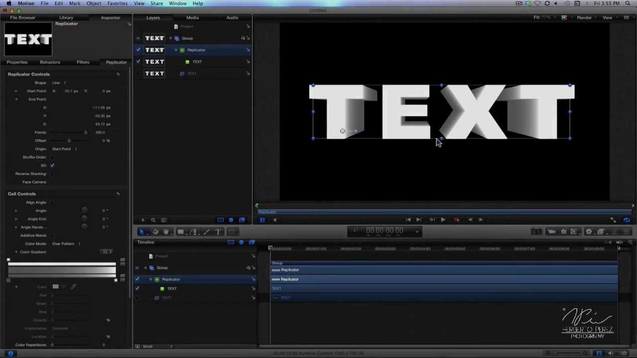 how to 3d text tutorial in apple motion 5 youtube