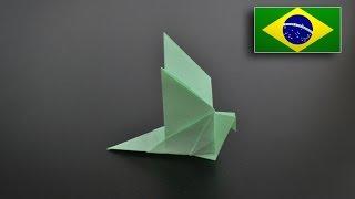 Origami: Pássaro da Felicidade - Instruções em Português BR