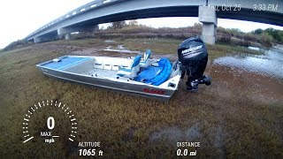 1652 Blazer 60/40 Mercury Outboard Jet on Salt Fork Arkansas River