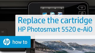 Replacing a Cartridge - HP Photosmart 5520 e-All-in-One Printer(Don't know which cartridge you need? Visit http://www.suresupply.com. Learn how to replace a cartridge in the HP Photosmart 5520 e-All-in-One Printer., 2013-08-14T22:13:30.000Z)