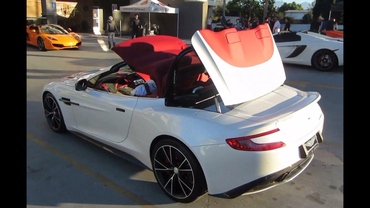 Aston Martin Vanquish Volante Roof Operation Youtube