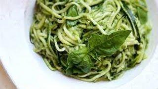 Como Hacer una Pasta de Zucchini con Salsa Pesto- Hogar Tv por Juan Gonzalo Angel