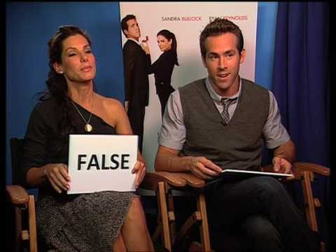 Sandra Bullock and Ryan Reynolds true or false quiz - The Proposal