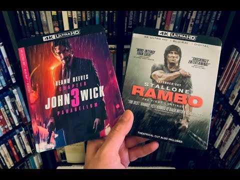 John Wick: Chapter 3 - Parabellum / Rambo 4K BLU RAY REVIEW + Unboxing