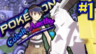 AMAZING ENTIRE POKEMON GAME IN MINECRAFT!!   Cobalt & Amethyst Part 1