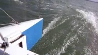 Fast proa sailing