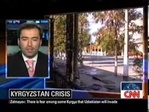 Peter Zalmayev (Залмаев): Bloodshed in Kyrgyzstan. CNN Int'll, June 13, 2010 (with Rosemary Church)