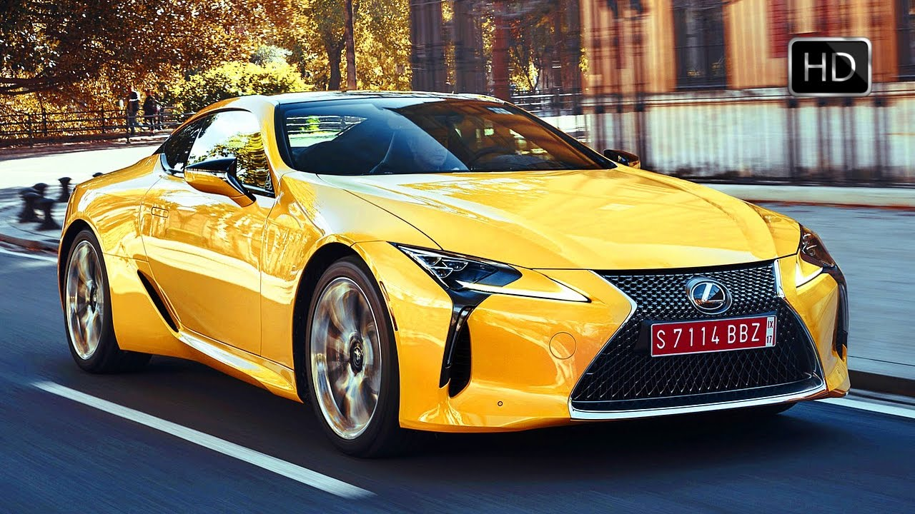 Cars Wallpaper With Names 2018 Lexus Lc 500 Coupe Road Driving Scenes Color Yellow