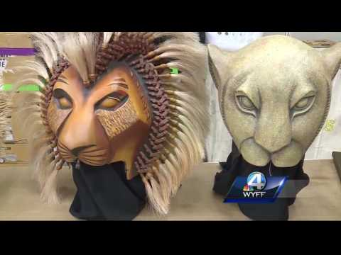 WYFF News 4 takes you behind the scenes of The Lion King