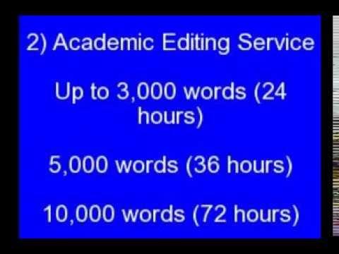 Academic Editing Service