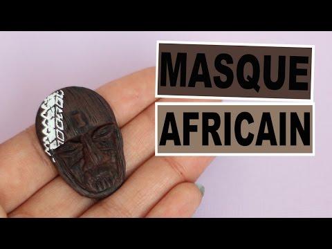 """Masque Africain """"Bois"""" et Pochoirs Graine Créative"""