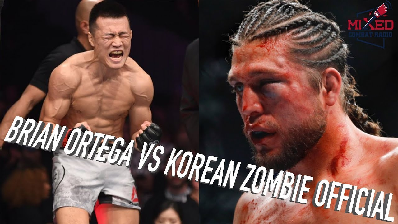 Brian Ortega vs Korean Zombie OFFICIAL ...