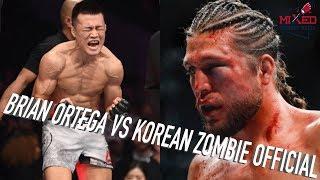 Brian Ortega vs Korean Zombie OFFICIAL Main Event in South Korea, Perfect Matchup?